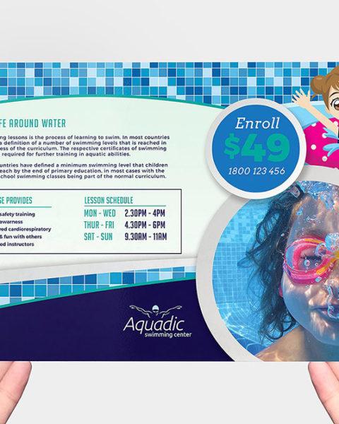 Volantino lezioni di nuoto per bambini