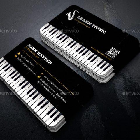 biglietto da visita musicista dj audio