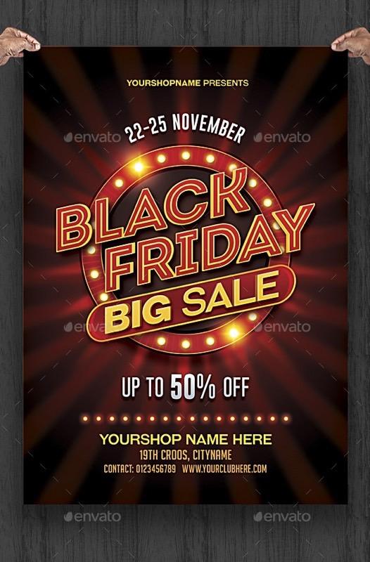 Blackfriday: design per poster e fyer promozionali 1