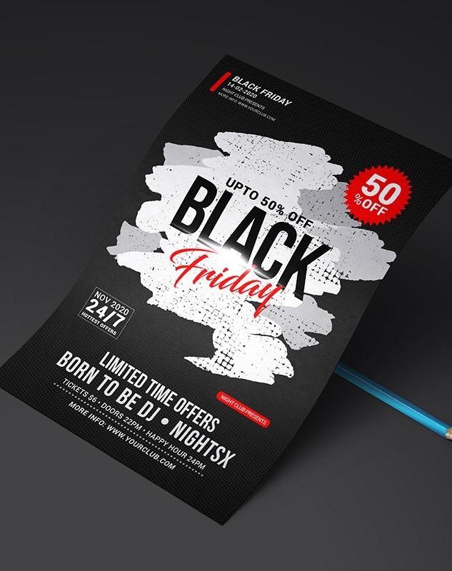 Blackfriday: design per poster e fyer promozionali 2