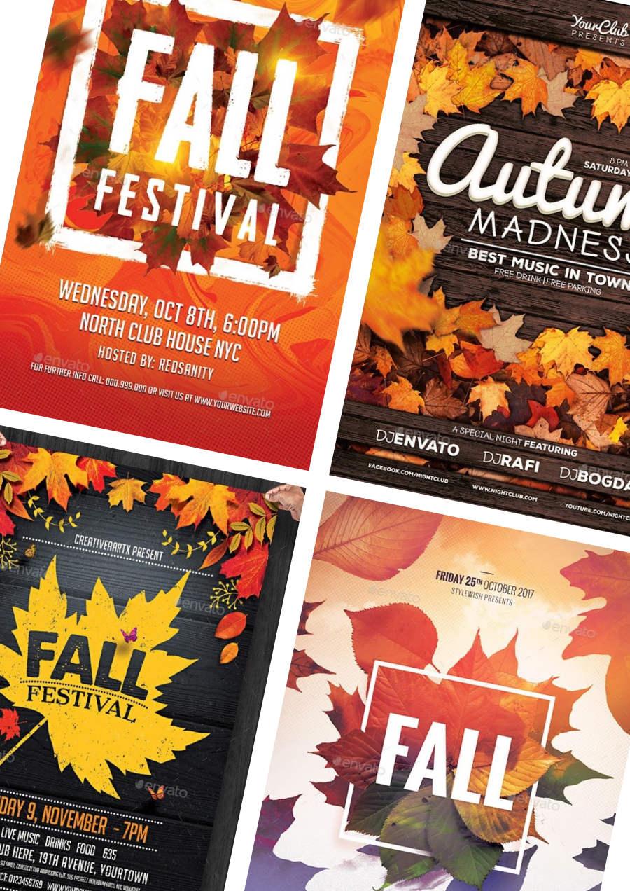 Festa d'autunno: design per poster promozionali 1